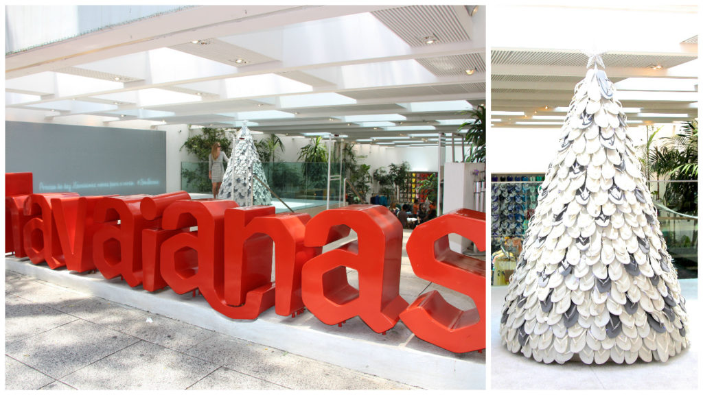 Sao Paulo Christmas decoration Havaianas